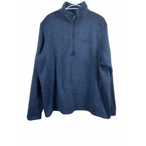 Eddie Bauer Men XXL 1/4 Zip Up Pullover Sweatshirt
